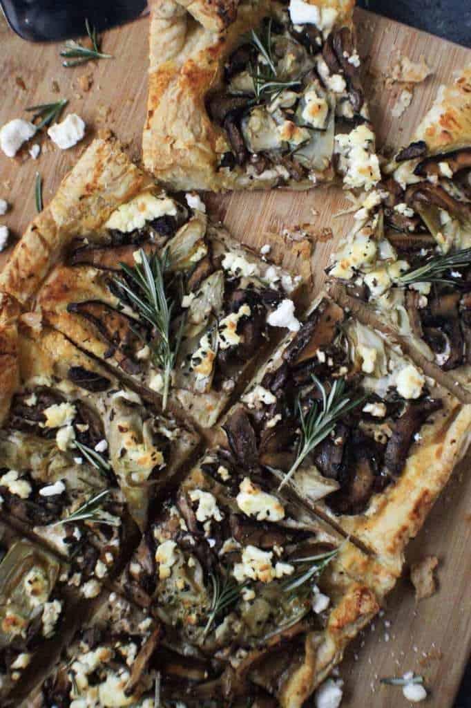 mushroom and artichoke tart