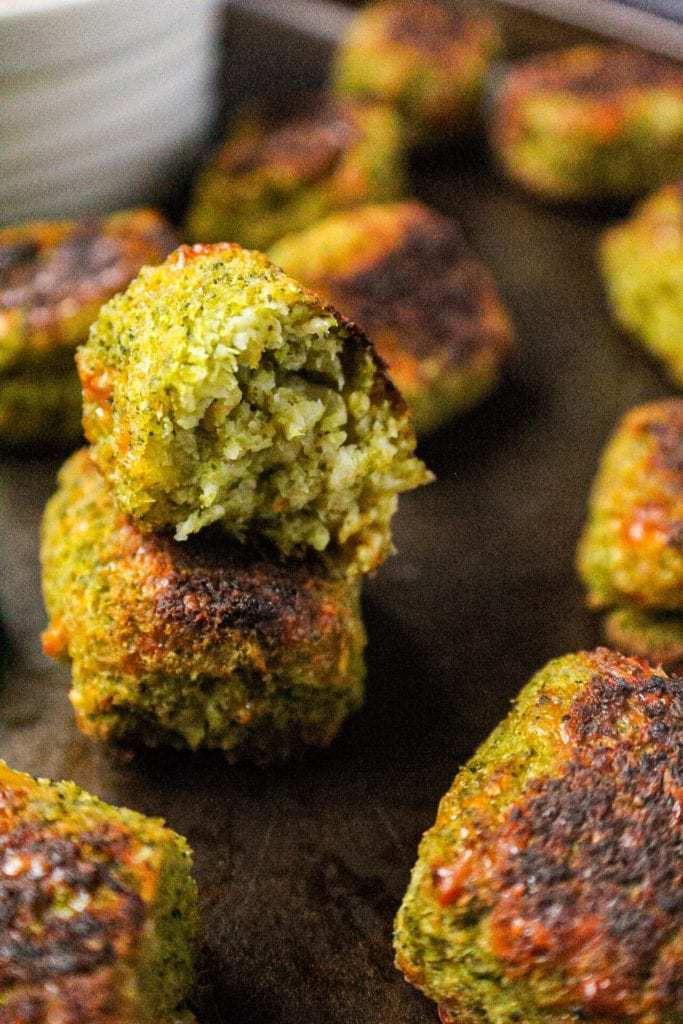 cooked broccoli tots
