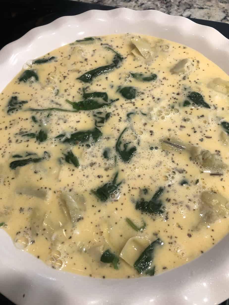 spinach and artichoke frittata
