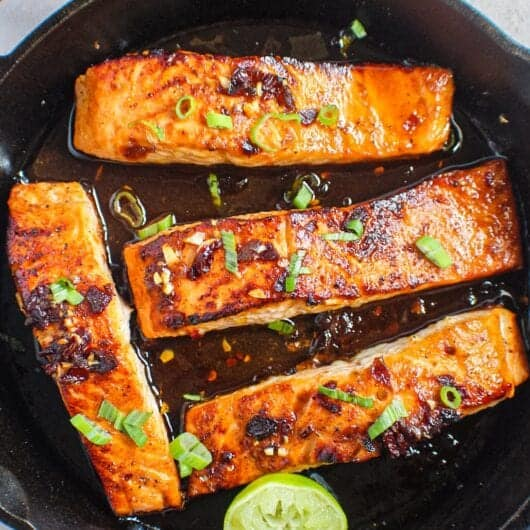 maple chipotle salmon
