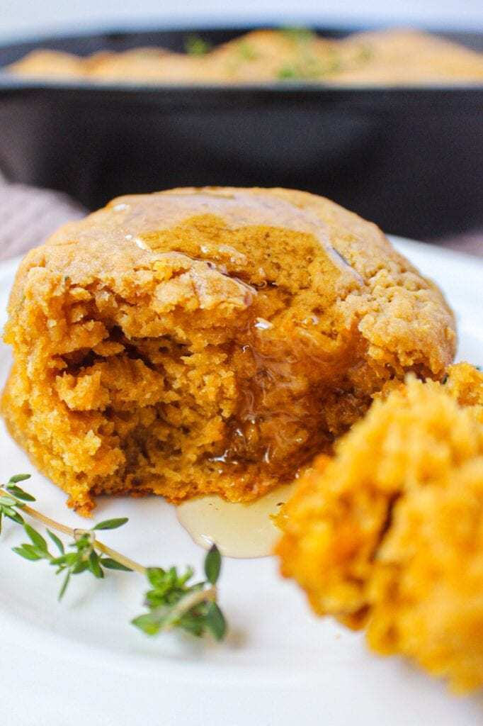 honey and thyme sweet potato buttermilk biscuits
