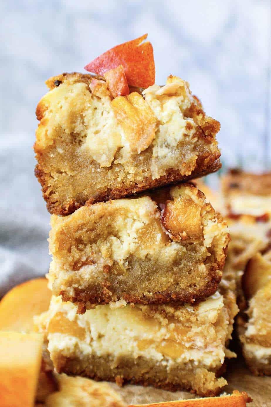 peach cheesecake blondies