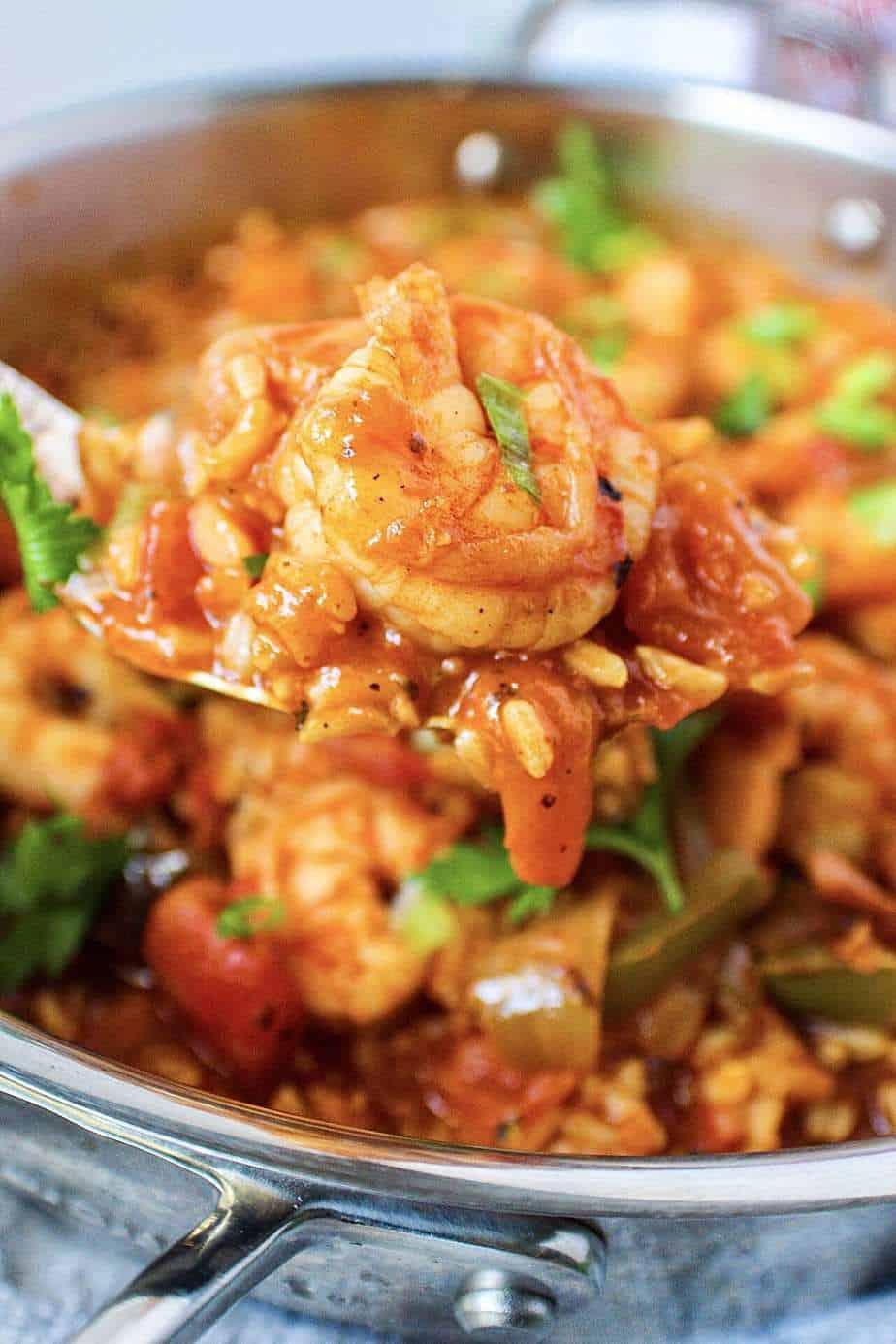 cajun shrimp and rice skillet
