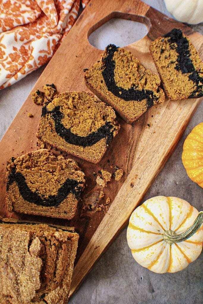 chocolate marble pumpkin bread