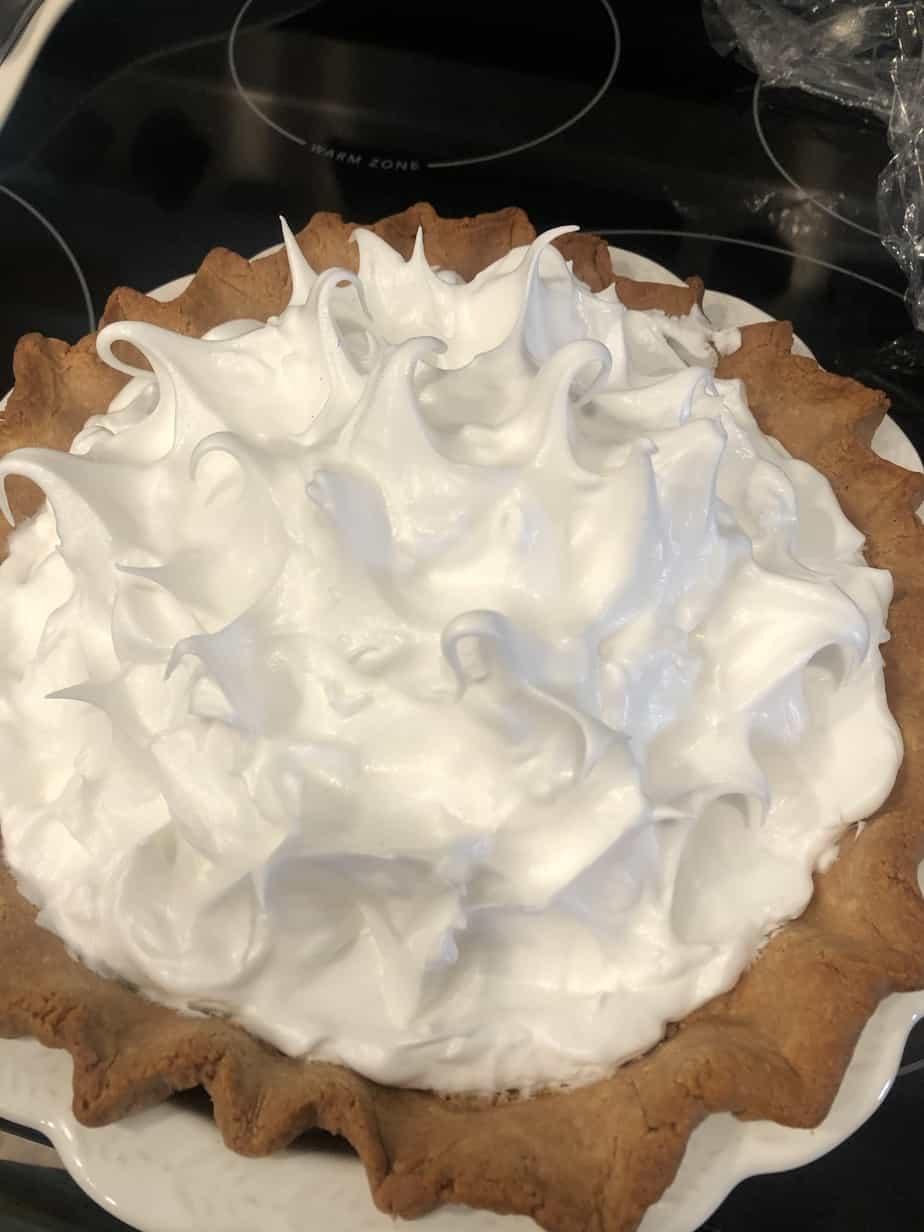pie before baking meringue