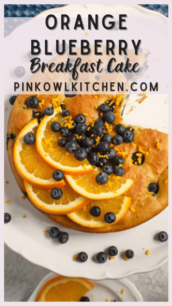 This blueberry breakfast cake is tender, moist and packed with fresh blueberries and citrus flavor. It's also gluten-free and refined sugar free!