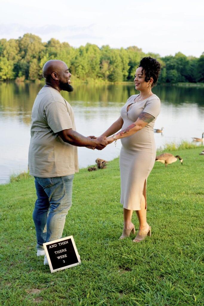 Ashley and Marlon pregnancy announcement